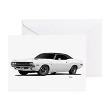 1970 Challenger White Greeting Cards (Pk of 10)