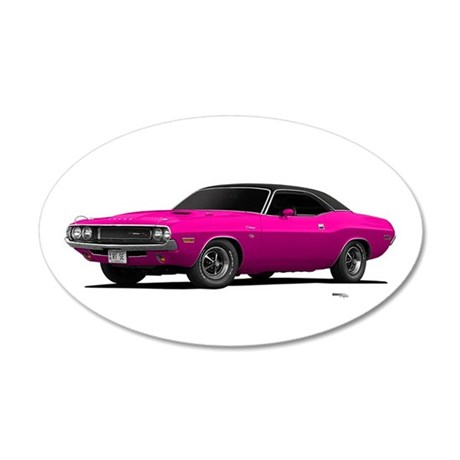 1970 Challenger Panther Pink 38.5 x 24.5 Oval Wall