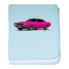 1970 Challenger Panther Pink baby blanket