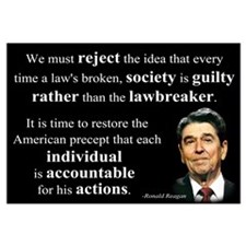 Reagan Quote - Individual Accountable Wall Art