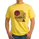 OYOOS Fuzzy Cuddly Boi design Yellow T-Shirt