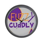 OYOOS Fuzzy Cuddly Boi design Wall Clock