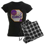OYOOS Fuzzy Cuddly Boi design Women's Dark Pajamas