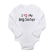 Unique Big sister Long Sleeve Infant Bodysuit