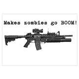 Make zombies go BOOM! Wall Art