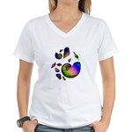 Seashells Women's V-Neck T-Shirt