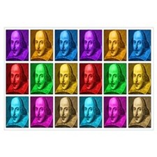 Shakespeare Pop Art Wall Art