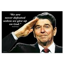 Reagan - We Are Never Defeated... Wall Art