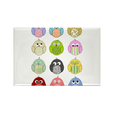 Cute Owls Rectangle Magnet (100 pack)