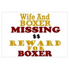 Wife & Boxer Missing Wall Art