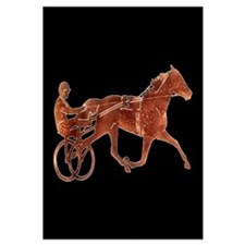 Brown Pacer Silhouette Wall Art