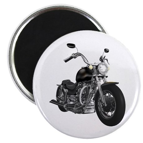 "BLACK MOTORCYCLE 2.25"" Magnet (10 pack)"