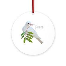 Peace Dove Ornament (Round)