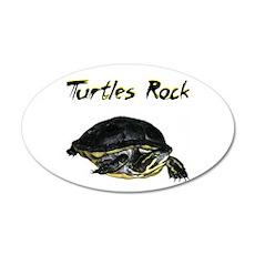 Turtles Rock 38.5 x 24.5 Oval Wall Peel