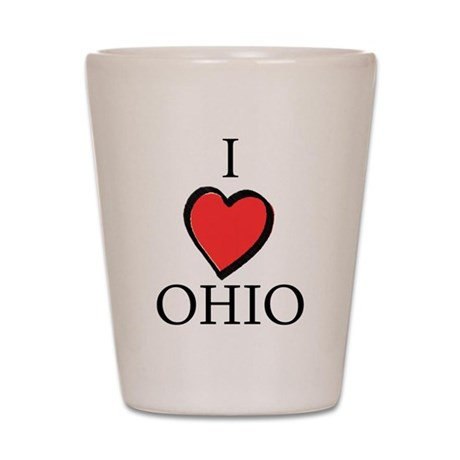 I Love Ohio Shot Glass