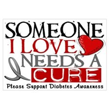 Needs A Cure DIABETES Wall Art