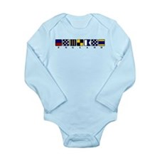 Nautical England Long Sleeve Infant Bodysuit