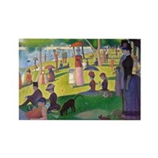 Seurat La Grande Jatte Rectangle Magnet (10 pack)