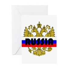 Unique Russian coat arms Greeting Card