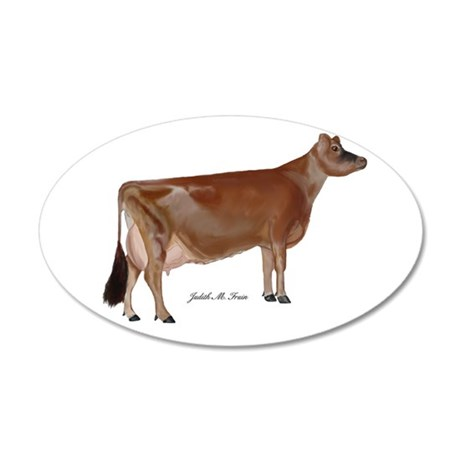 Jersey cow 35x21 Oval Wall Decal