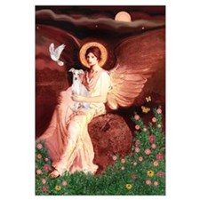 Seated Angel / Italian Greyhound Wall Art