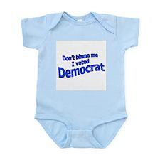 I Voted Democrat Infant Creeper