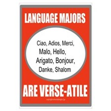 Language Majors Are Verse-Ati Wall Art