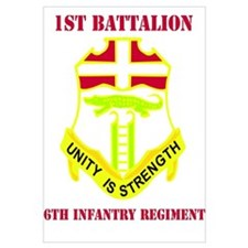 DUI - 1st Bn - 6th Infantry Regt with Text Mini Po
