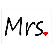 Mrs (Red Heart) Wall Art