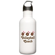 Volleyball Coach Flower Gift Water Bottle