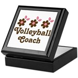 Volleyball Coach Flower Gift Keepsake Box