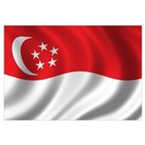 Flag of Singapore Wall Art