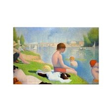 Seurat - Bathers Rectangle Magnet