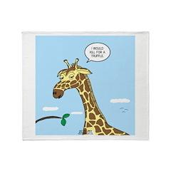 Giraffe Foraging Foibles Throw Blanket