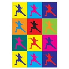 Fencing Pop Art Wall Art