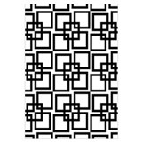 B&W Wobble Lattice Pattern Wall Art