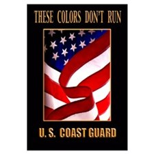 Funny Us coast guard flag Wall Art