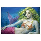 Maroon Mermaid Wall Art