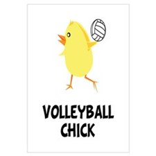 Volleyball Chick Wall Art