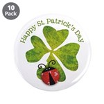 "St. Patricks Day 3.5"" Button (10 pack)"