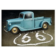 Route 66 Farm Truck Wall Art