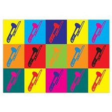 Trombone Pop Art Wall Art