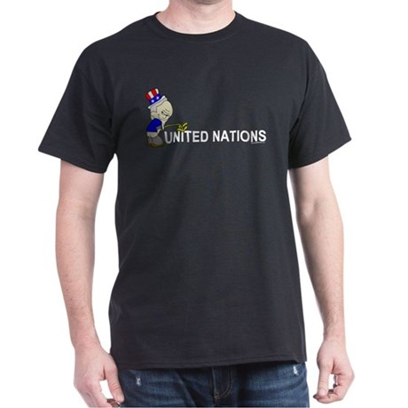 Piss On United Nations Black T-Shirt