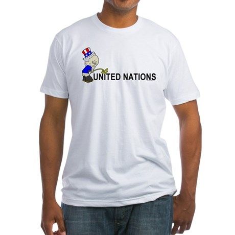 Piss On United Nations Fitted T-Shirt