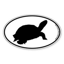 Tortoise SILHOUETTE Oval Decal