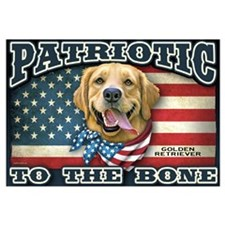 Patriotic - Golden Retriever Wall Art