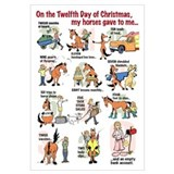 12 Days of Christmas 11 x 17 Poster