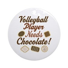 Volleyball Player Chocoholic Ornament (Round)