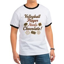 Volleyball Player Chocoholic T