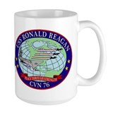 CVN-76 USS Reagan Ceramic Mugs